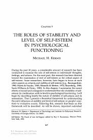 self esteem essay the roles of stability and level of self esteem  the roles of stability and level of self esteem in psychological inside self reflective essay