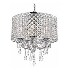 ... Large Size of Chandeliers Design:awesome Chrome Chandelier Fides Shaded  Grey Effect Lamp Pendant Ceiling ...