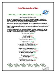 The LeftRight Christmas Game Pass It OnChristmas Gift Game Exchange