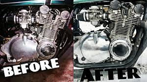 how to polish your dirty old motorcycle engine gs850 13 youtube