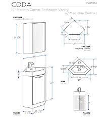 18 fresca coda fvn5084wh white modern corner bathroom vanity w optional medicine cabinet