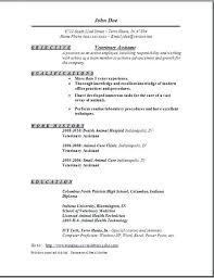 Vet Assistant Cover Letters Examples Veterinary Assistant Resume Vet