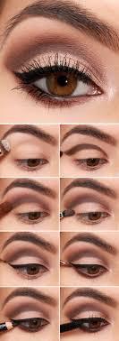 easy eye shadow makeup tutorials for beginners brown cut crease with eyeliner