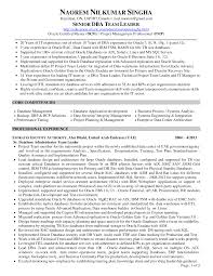 Dba Resume For 1 Year Experience Resume Cv Cover Letter