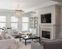 family room lighting fixtures. Family Room - Transitional Idea In Chicago With White Walls Lighting Fixtures