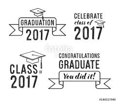 congratulations to graduate congratulations graduate 2017 graduation vector set stock image