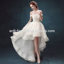 sexy short front long back wedding dress sexy short front long