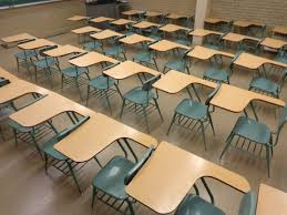 domain office furniture. school classroom with empty desks domain office furniture