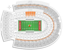 Osu Buckeye Stadium Seating Chart Ohio State Football Ohio Stadium Seating Chart