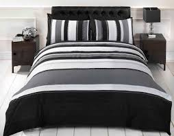 Black and white striped duvet cover uk & Black And White Duvet Covers Double Sweetgalas Adamdwight.com