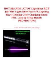 Jedi Light Hot Brands Lgtoy Lightsaber Rgb Jedi Sith Light Saber Force