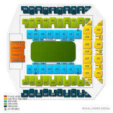 Royal Farms Arena Detailed Seating Chart Royal Farms Arena 2019 Seating Chart