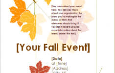 Spring Event Flyer Fall Event Flyer Template Customizable Design Templates For Fall