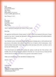 Sample Cover Letter For Teaching Position Template Letter Of