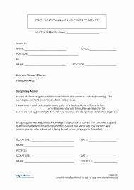 018 Sample Written Warning Letter To Employee Template Free