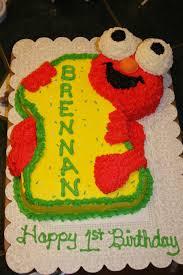 1st Birthday Elmo Cake And Smash Cake Cakecentralcom