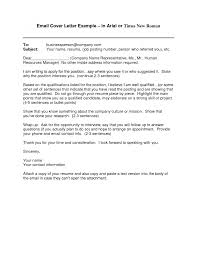 Email Cover Letter Example 10 Download Free Documents 7 Letter