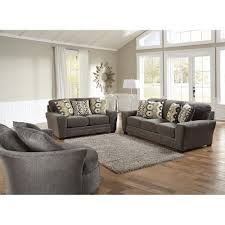 Sax Living Room Sofa  Loveseat Grey   Living Room - Bedroom and living room furniture