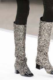 chanel glitter boots. chanel shoes fall winter 2017/2018 glitter boots o