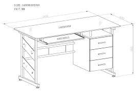 standard desk height for computer standard office desk