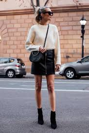 white leather mini skirt outfit