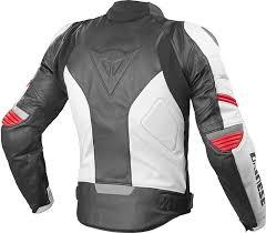 dainese racing leather jacket clothing jackets motorcycle white red dainese underwear norsorex e1 pant
