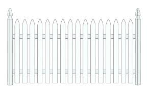 picket fence drawing. Academy Fence Picket Drawing Spaced Wood  Pa