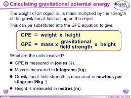 21 calculating gravitational potential energy