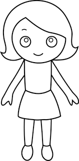 Small Picture Little Girl Coloring Page Free Clip Art