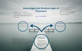 Disadvantages Of Teamwork Advantages And Disadvantages Of Teamwork By Tina Dennis On Prezi