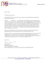University Of Houston Recommendation Letter Recommendations