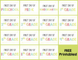 First Day of School Signs – Updated! {FREE Printables}