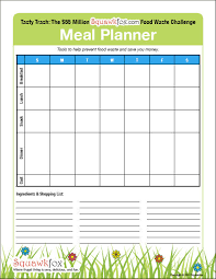 Your Meal Planning Template 3 Meal Planners 1 For Kids