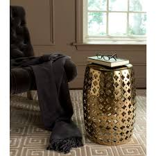 patio stool: lacey plated gold patio stool cd a  cdd adfa