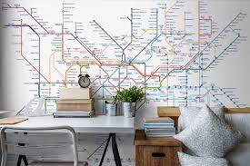 wallpaper for office wall. London Tube Map Wallpaper Wallpaper For Office Wall