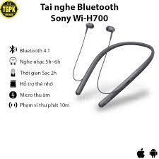 Tai nghe Bluetooth Sony Wi-H700 Thiết kế không dây thể thao | Kiểu dáng  sang trọng | Chất liệu cao su dẽo bền bỉ chính hãng 188,500đ