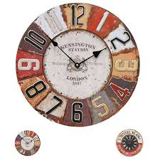 large office clocks. Vintage Large 12 Inch Round Wood Office Battery Wall Clocks Hanging Watch  Home Decor Large Office