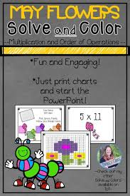 May Flowers Solve And Color Multiplication And Order Of