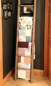 Quilt Display Rack Wall Mount Wood Ladder Hangers Hobby Lobby. Quilt Rack  Wall Hangers Oak Plans.