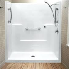 one piece shower kit one piece low threshold shower stall 3 piece shower kits
