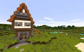 picture of how to build a meval house in minecraft