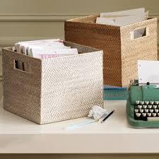 office storage baskets. modern weave storage bins office baskets