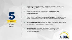 Shine Job Posting Shine Com Employer Branding Via Social Media Hiring