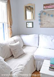 diy sectional slipcovers. Add A Washed Drop Cloth To Your Sofa For Linen Looking Slipcover. Diy Sectional Slipcovers