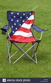 american patriotic camping chair stock image