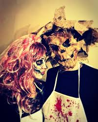 Nice Scary Halloween Couple Costume. Pic By Sfascians