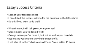 lesson on censorship and dom of speech by rob williamsthree  ks3 4 essay success criteria and feedback form