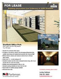 office space for lease flyer sheffeild office park leasing