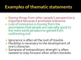 developing a thesis ppt  5 examples of thematic statements