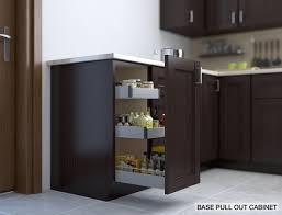 Base pull out cabinet: perfect for spices, oils and condiments near a stove.